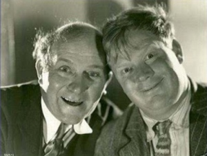 Edgar Kennedy, left, with Harry Sweet in about 1931. (Photo courtesy Dennis Atkinson)