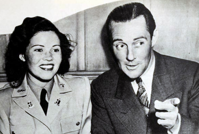 "Fidler with his second wife, Roberta ""Bobby"" Law."