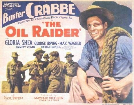 Max Wagner featured in a lobby card for The Oil Raider (1934)