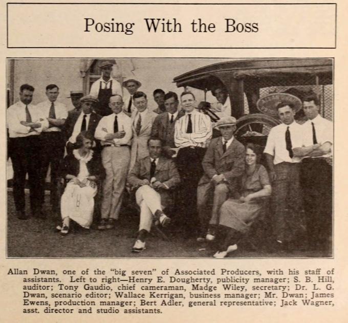 The Allan Dwan company in 1920.