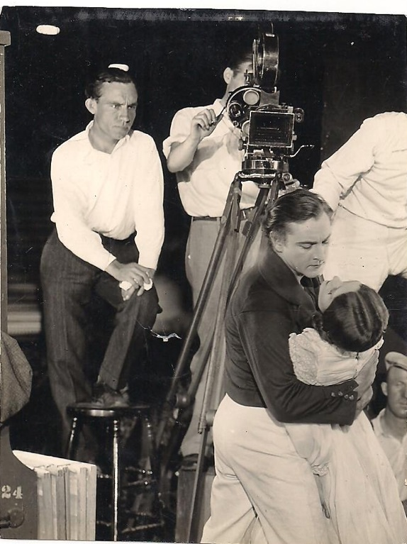 Jack Wagner on the set of The Sea Beast (1926).