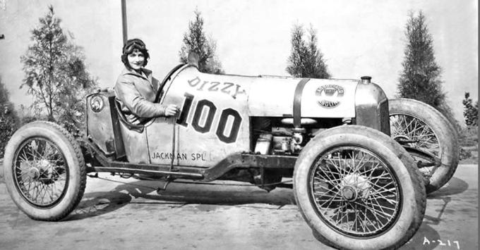 As a WAMPAS star, Natalie was required to pose for publicity photos in race cars she likely would have no interest in driving, including this 1927 Jackman Special.