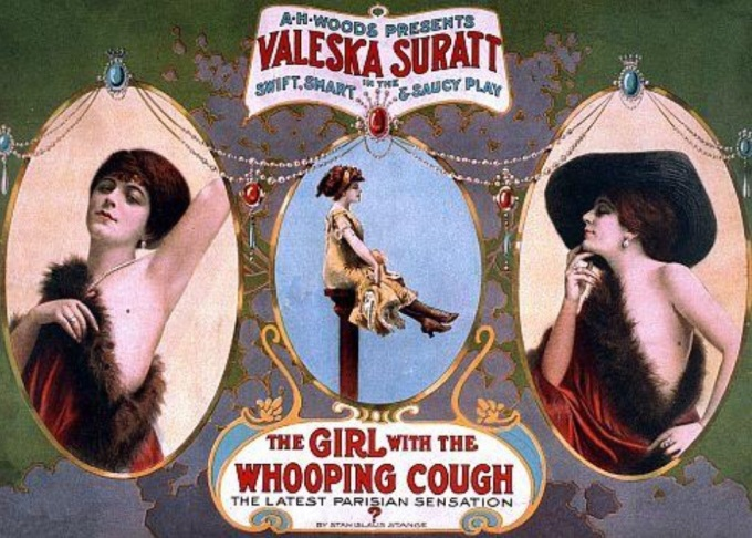 Advertisement for The Girl With the Whooping Cough.