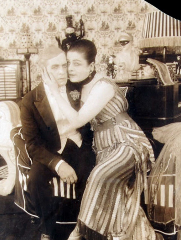 Suratt with a male partner in a rare publicity still.